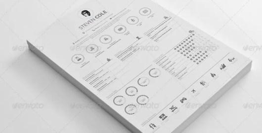 Simple Resume CV PSD