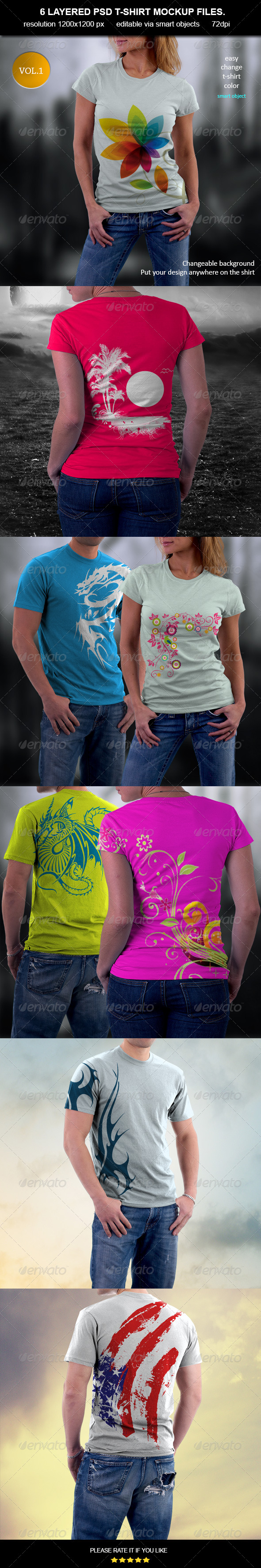 T-Shirt MockUp-Vol.1