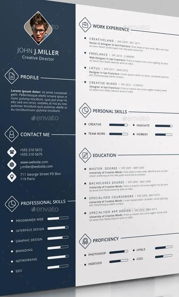 The CV Template PSD
