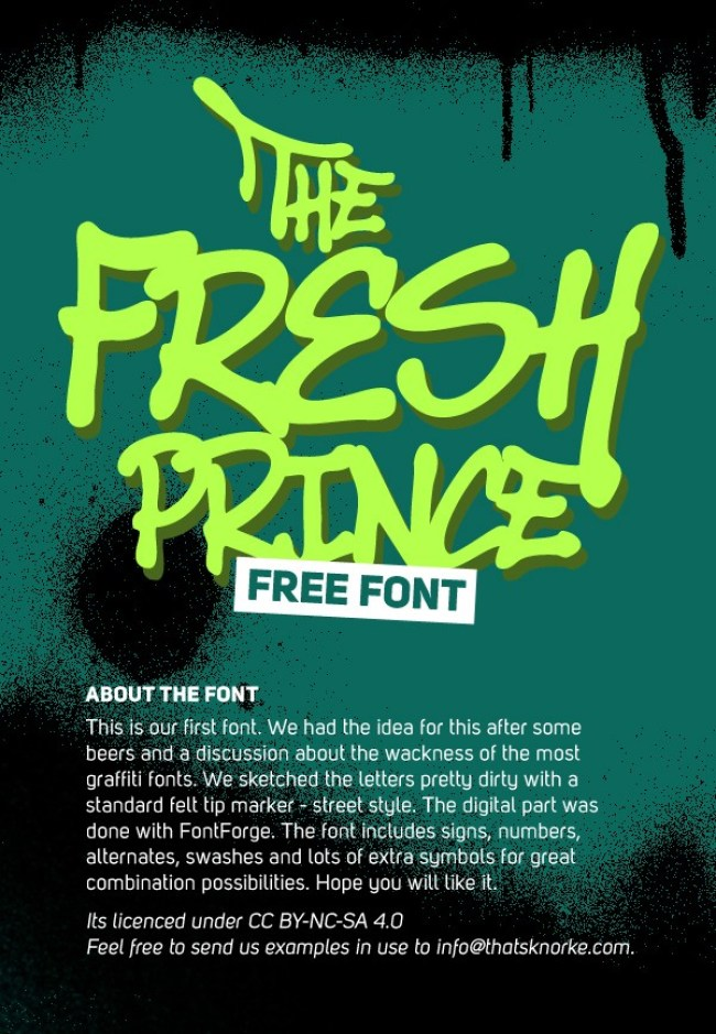 The Fresh Prince Free Font