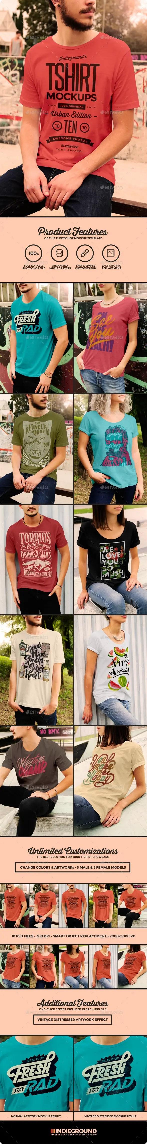 Urban T-Shirt Mockups