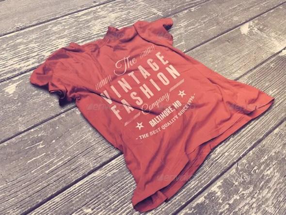 Vintage T-Shirt Mockup