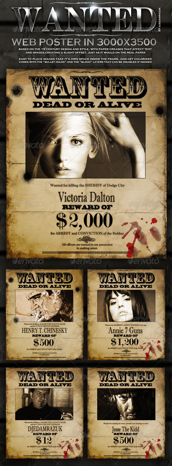 Old Wanted Poster Template  Most Wanted Posters Templates