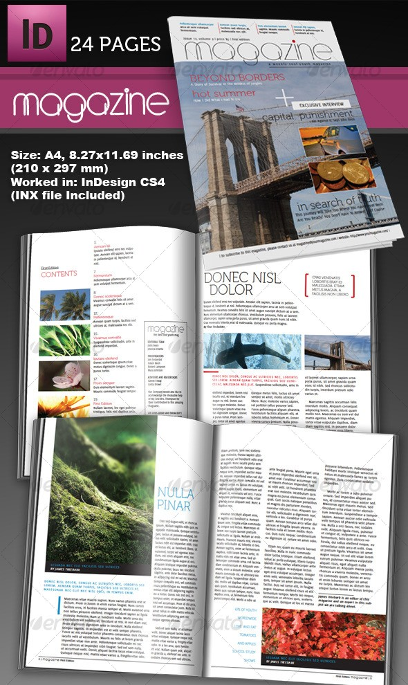 24 Page InDesign Magazine A4