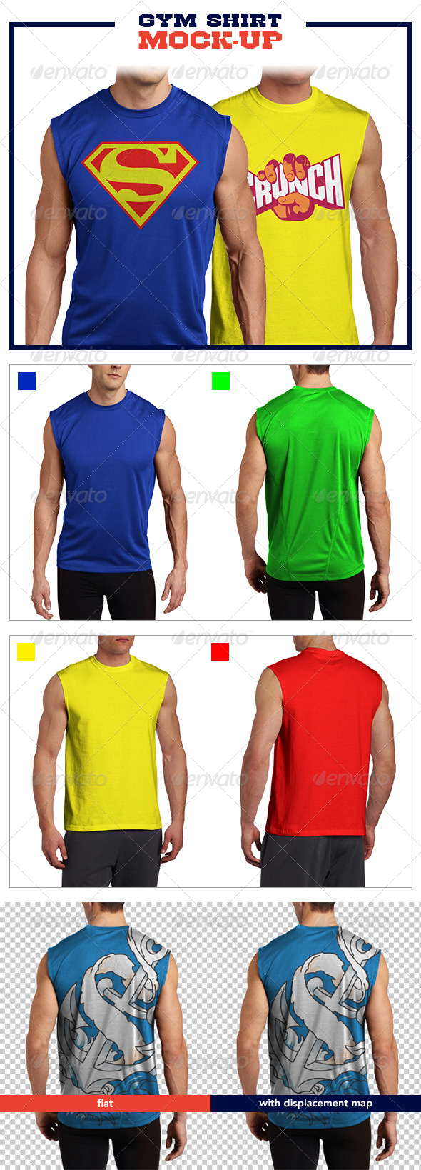 Gym Shirt Mockup Pack