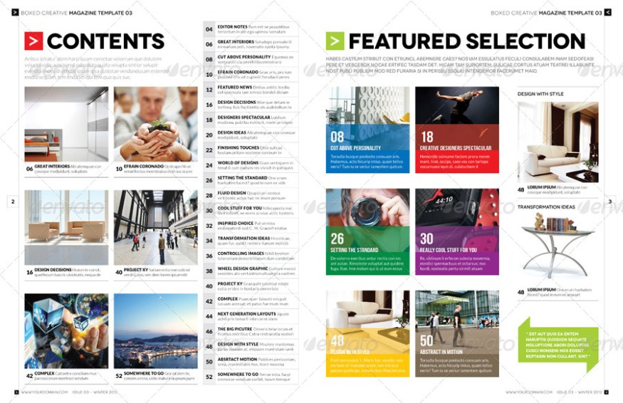 Magazine Template - InDesign 56 Page Layout V3
