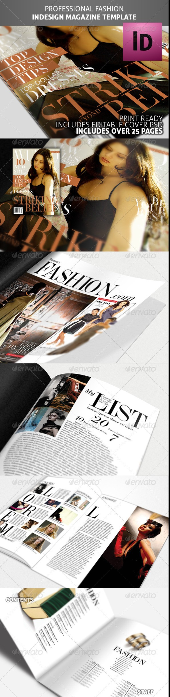 Pro InDesign Fashion Magazine Template