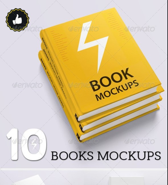 Book Mockups - 10 Different Images