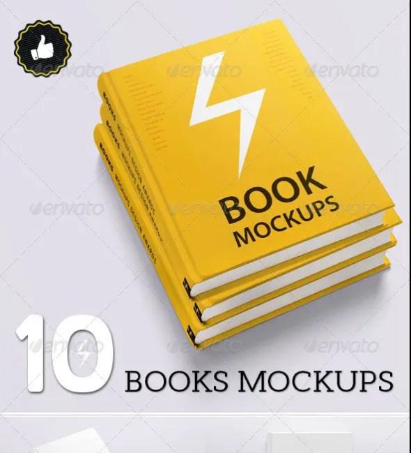 Book Mockups - 10 Different Images