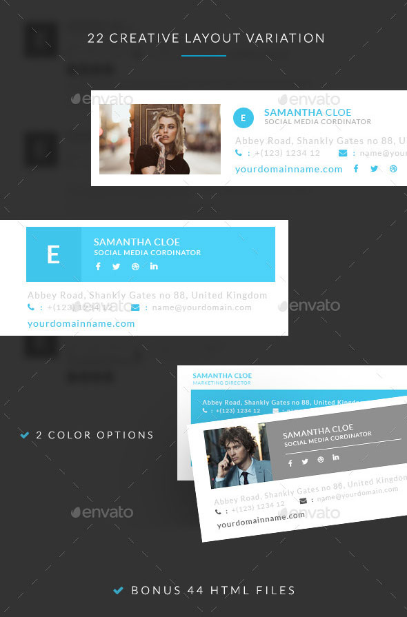 Creative E-signature Templates