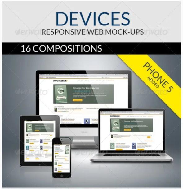 Devices - Responsive Web Mock-ups