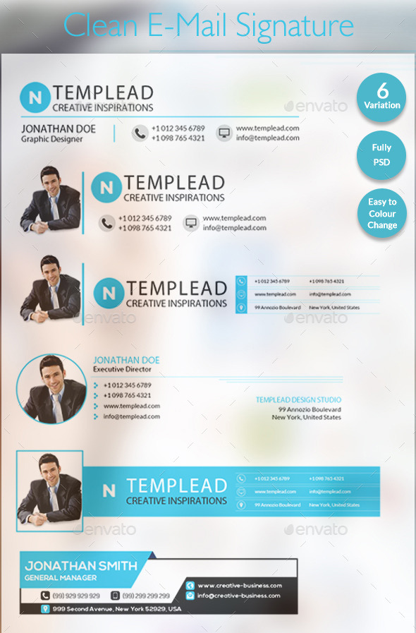 E-Signatures - Modern E-mail Signature Templates