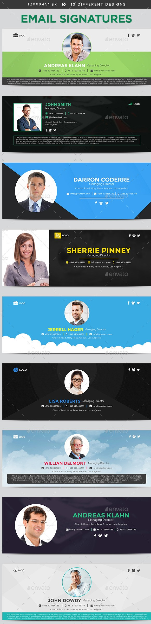 Email Signature Templates - 10 Designs