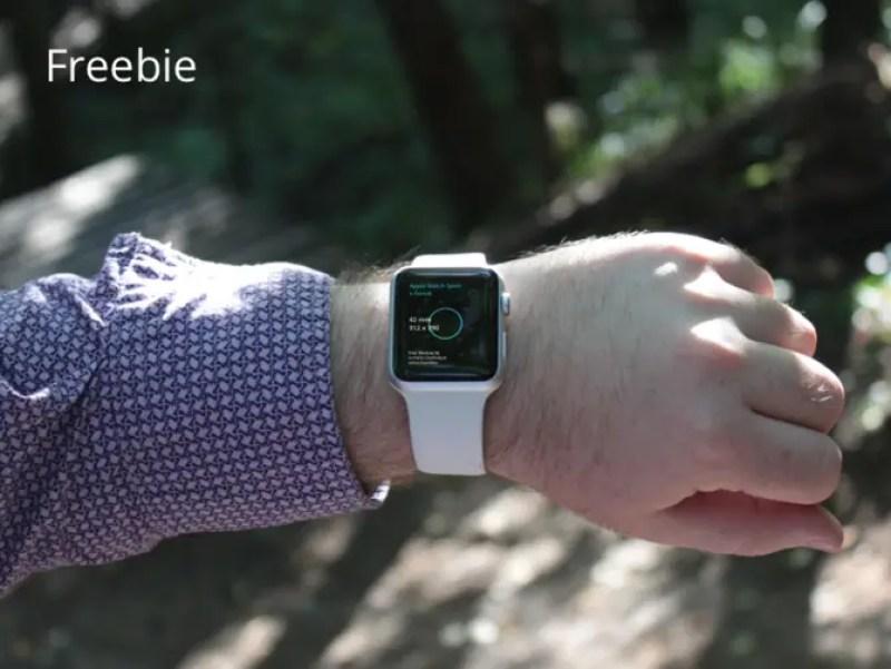 Free Apple Watch Sport Mockup