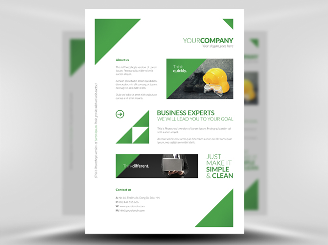 simple flyer template free