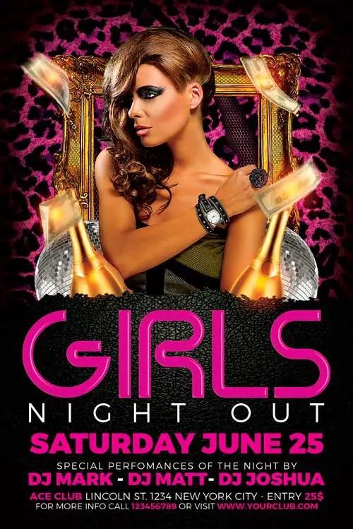 Free Ladies Night Flyer Template