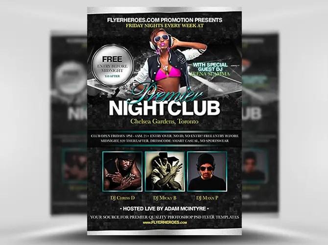 Premier Nightclub Free Flyer Template