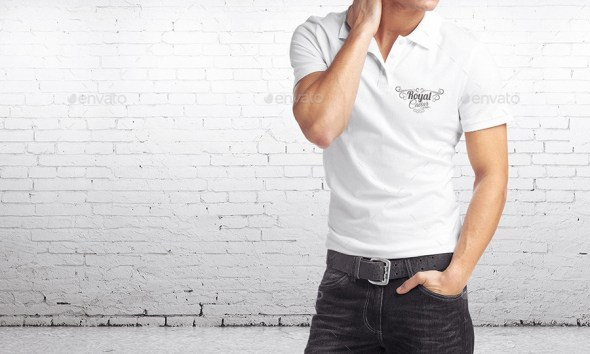 Man Polo Shirt Mockup