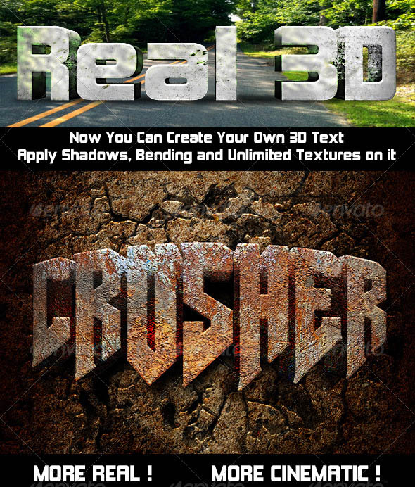 Photoshop Text Effect: Cinematic 3D Actions
