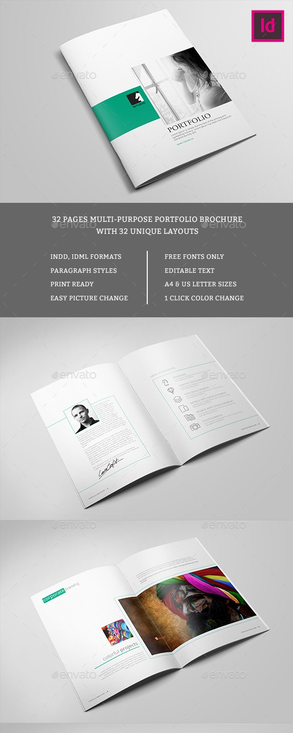 portfolio brochure template - 65 print ready brochure templates free psd indesign ai