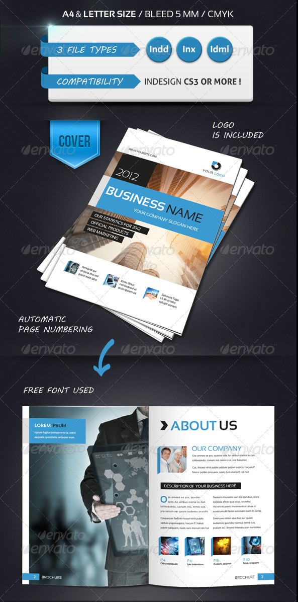 Modern Brochure Template A4 12 Pages