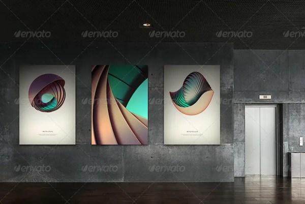 Photorealistic Gallery Poster Mockup Vol. 2