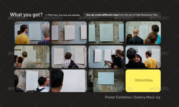 Poster Exhibition Gallery Mockup