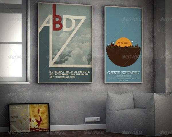 Poster Mock-up Context Frames