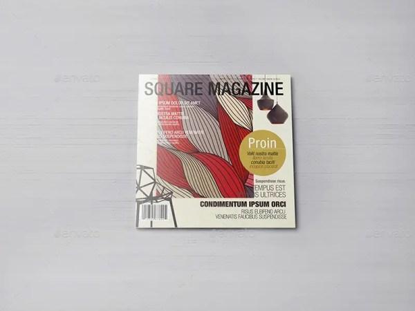 Square Magazine Mockups