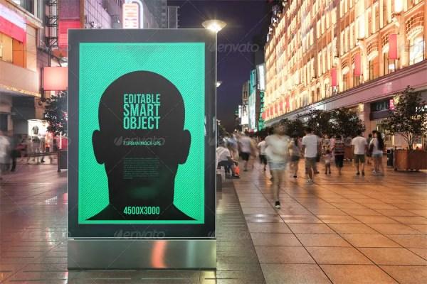Urban Poster / Billboard Mock-ups - Night Edition
