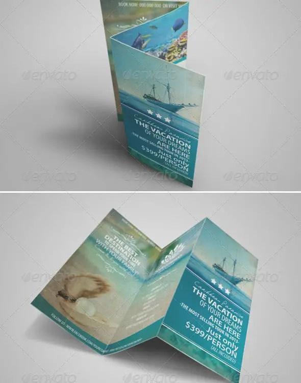 Vintage Travel Brochure Tri-fold