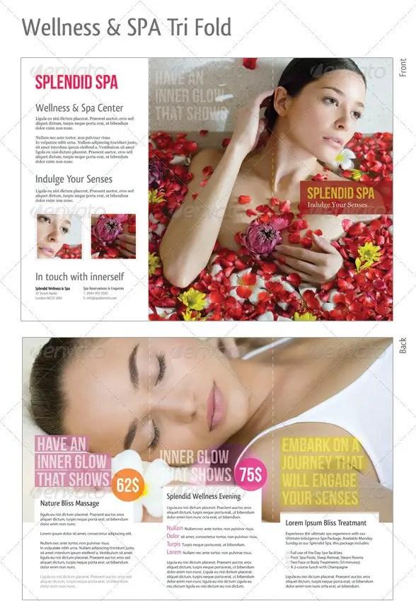 Wellness & Spa Tri-Fold Brochure