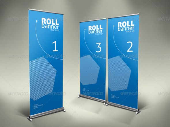 Elegant Professional Roll Up Banner Mock Up