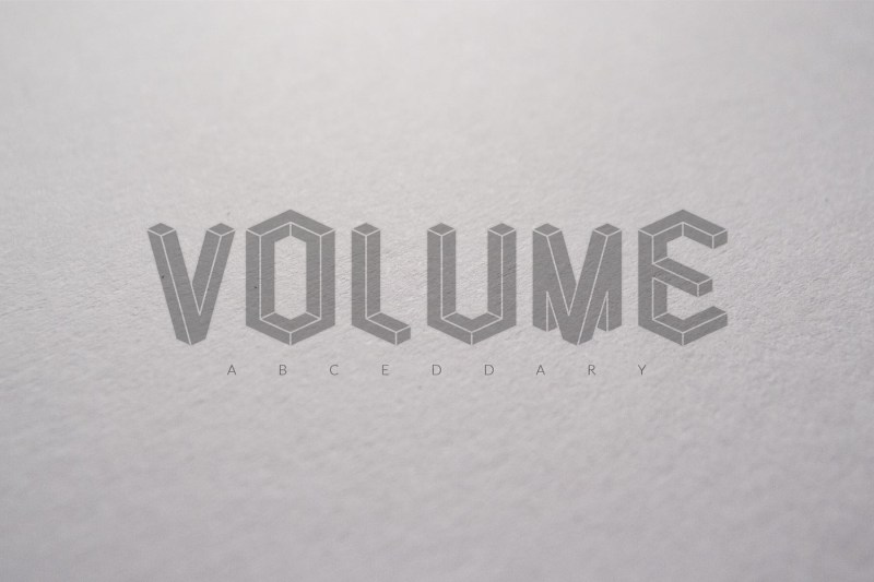 Volume Vector Abecedary Font