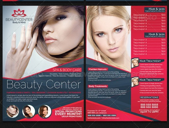 Beauty Center & Spa Business Flyer