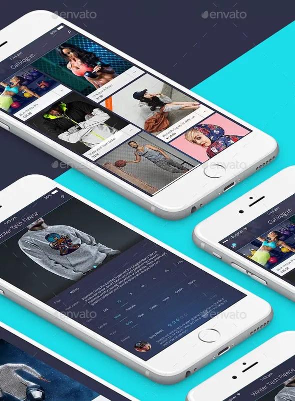 Mobile Fitness App Design for Retina Phone