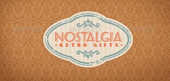 Nostalgia Retro Gifts Vintage Creative Logo