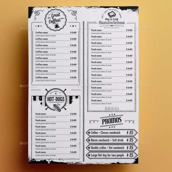 The Black and White Menu