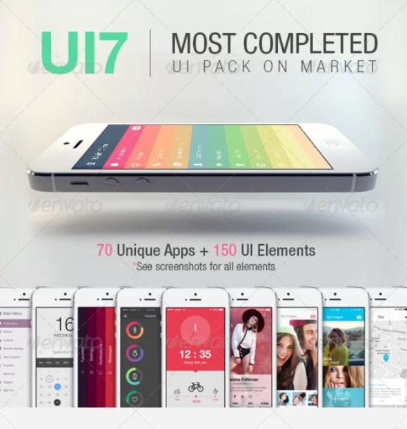 UI7 - Flat Bootstrap Mobile UI