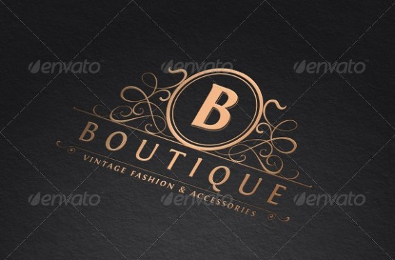 Vintage Boutique Logo Template