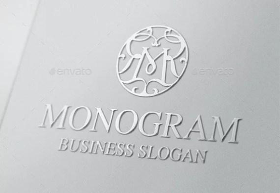 Vintage Monogram M Logo Letter