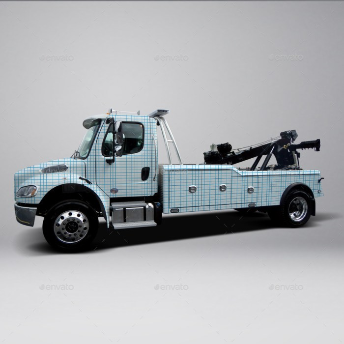 2013 Freightliner Heavy Tow Truck Wrap Mockup