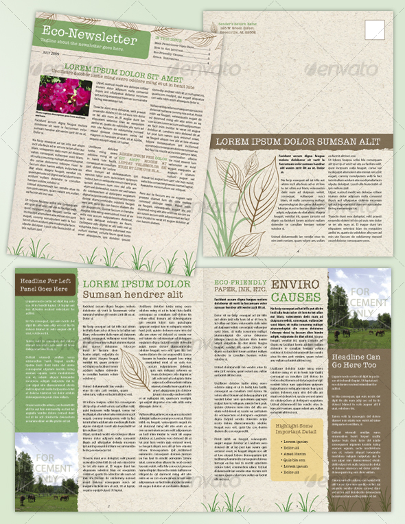 4-Page-Environmental-or-Recycle-Newsletter One Page Newsletter Template Indesign on free single, free mac, for mac,