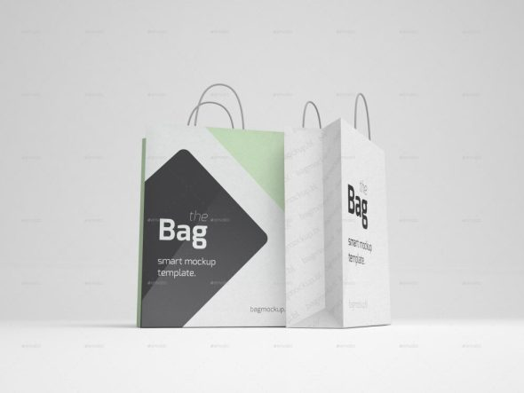5 Shopping Bag Mockups