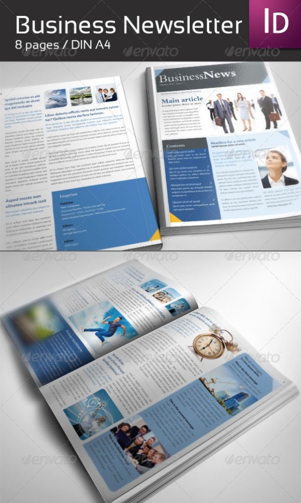 46 printable newsletter templates in psd indesign formats business newsletter din a4 wajeb Images