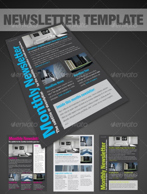 Clear A4 Newsletter - InDesign