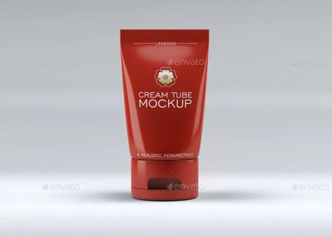 Cosmetics Tube & Cosmetics Box Mockup