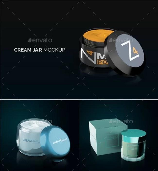 Cream Jar Packaging Mockup