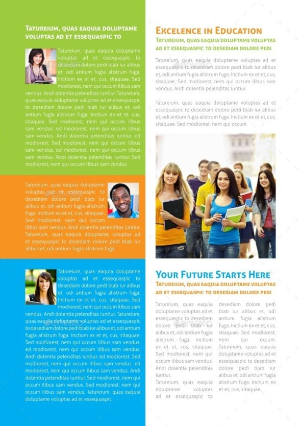 Educational Newsletter Template