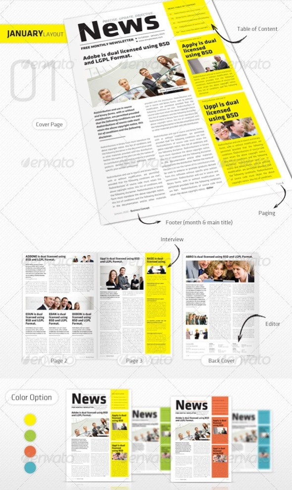 46+ Printable Newsletter Templates in PSD & InDesign Formats ...